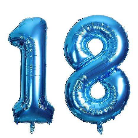 SMARCY Globos Número 18 Decoración de Cumpleaños 18 Años ...