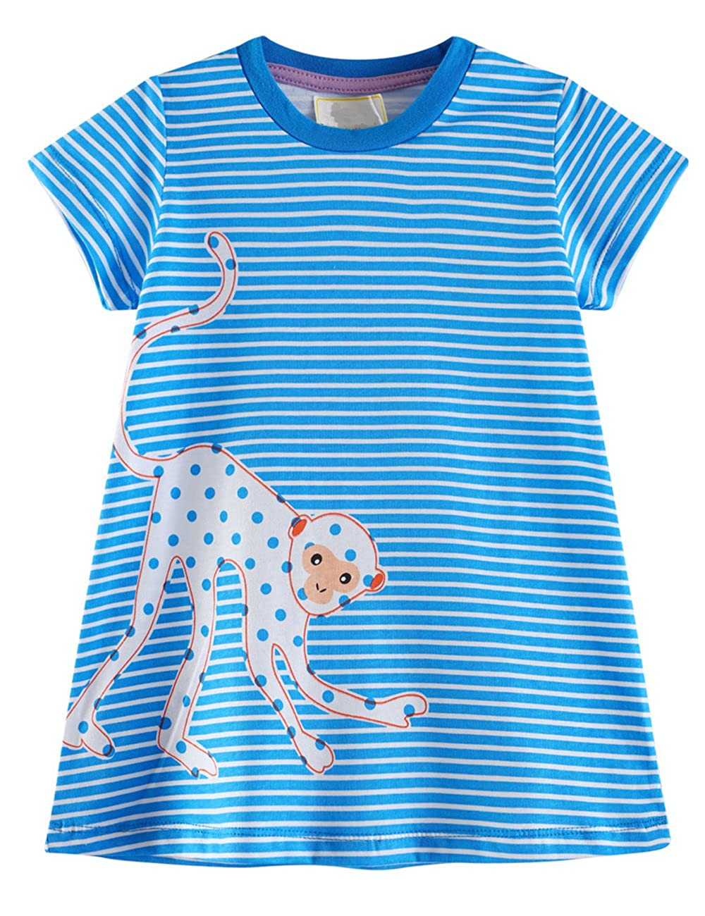 4723fbfda 100% cotton material ensure your girls feel cool, comfortable and  breathable in summer. Adorable design for girls 1-6 year. Cute pattern dress  make your ...