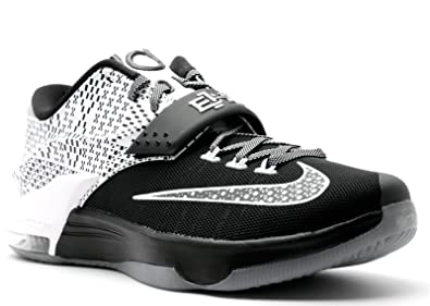 hot sales cdcde c4377 Nike Mens KD VII BHM Black White-Wolf Grey Synthetic Size 9.5 Basketball  Shoes
