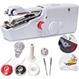 Portable Sewing Machine, Mini Sewing Professional Cordless Sewing Handheld Electric Household Tool - Quick Stitch Tool for Fabric, Clothing, or Kids Cloth Home Travel Use