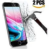 Pellicola Protettiva iPhone 8, KKtick iPhone 8 Vetro Temperato [2 Pack] [Installazione di Easy]][3D Toccare Compatibile] Screen Protector per iPhone 8 -Transparent