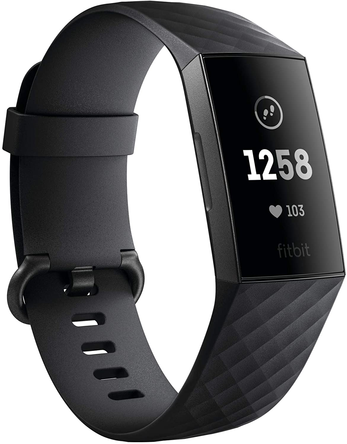 Amazon.com: Fitbit Charge 3 Fitness Activity Tracker, Graphite/Black, One  Size (S and L Bands Included): Health & Personal Care