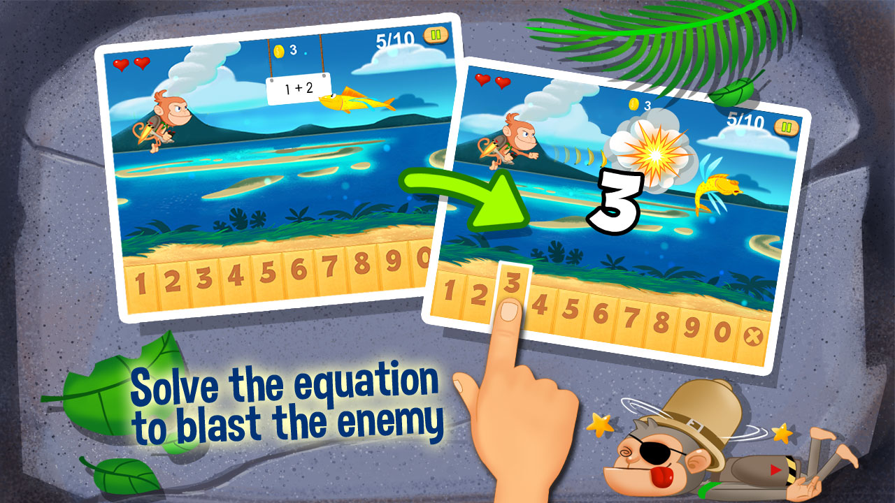 Amazon.com: Monkey Math - Jetpack Adventure Free: Appstore for Android