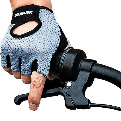 Senston Anti-Slip Guantes de Ciclismo Medio Dedos Guantes ...