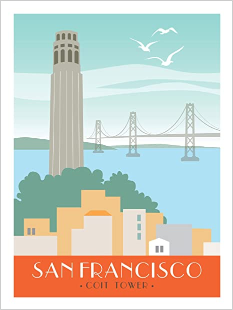 Architecture Print Coit Tower Print California Gift Pen and Ink San Francisco Drawing