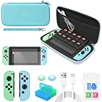 YUANHOT Accessories Bundle Compatible with Switch Animal Crossing Edition with Carrying Storage Case, Screen Protector…