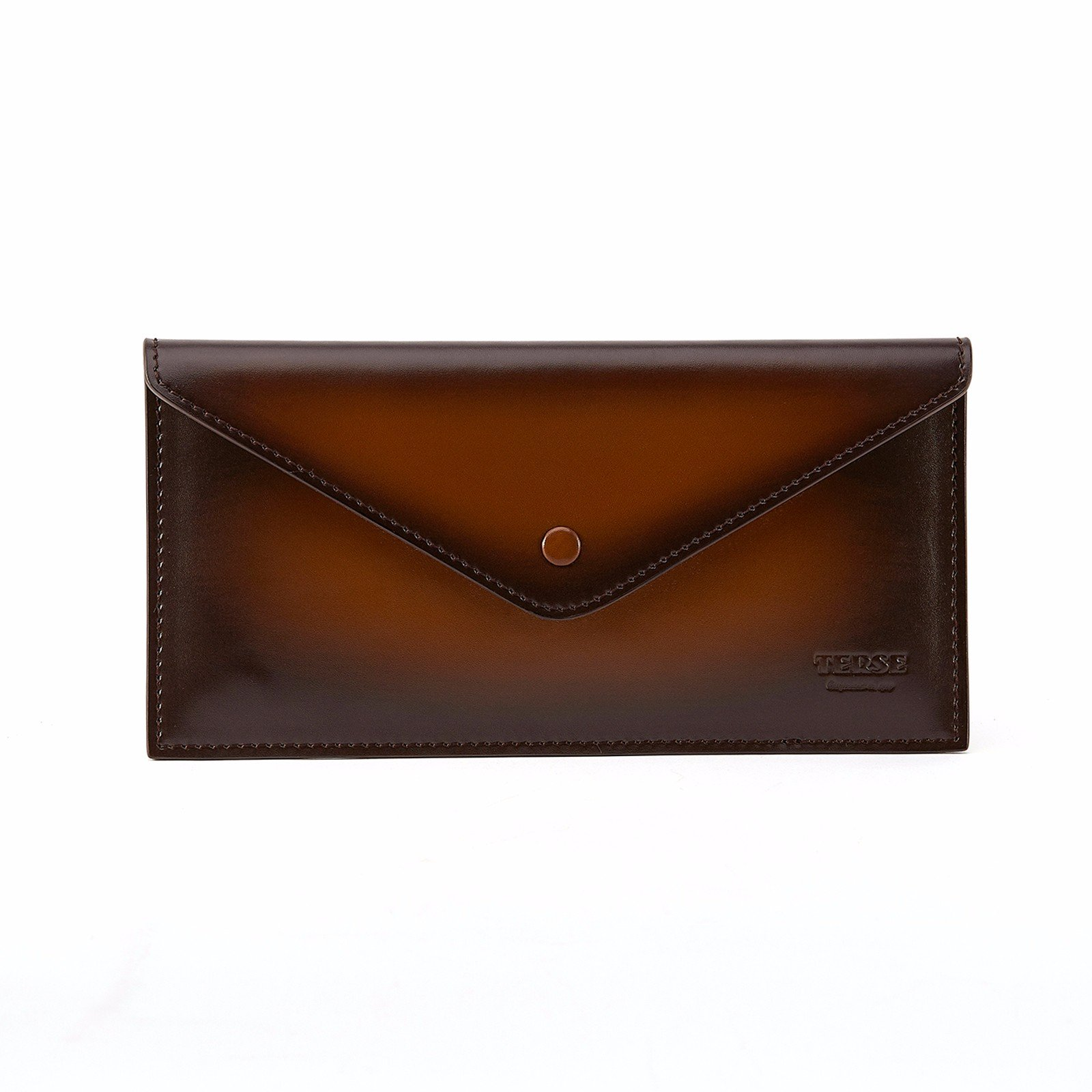 TERSE Men's Clutch Bag Leather Wallet Card Holder Messenger Bags (Tobacco)