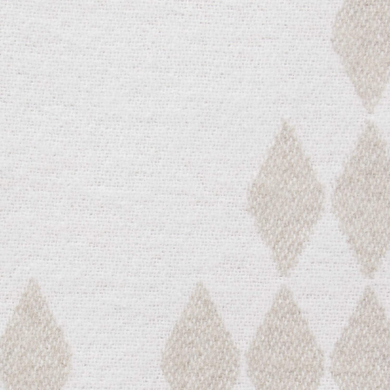 "Brand – Rivet Geometric Diamond Jacquard Reversible Throw Blanket, 50""x60"", Taupe / White: Home & Kitchen"