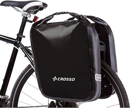 Crosso Dry BIG Sac de v/élo Unisexe Noir 60 l
