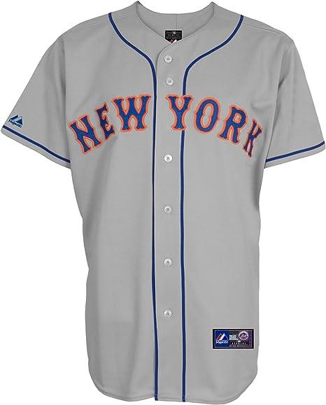 Majestic New York Mets MLB Camiseta Away, Gris: Amazon.es: Deportes y aire libre
