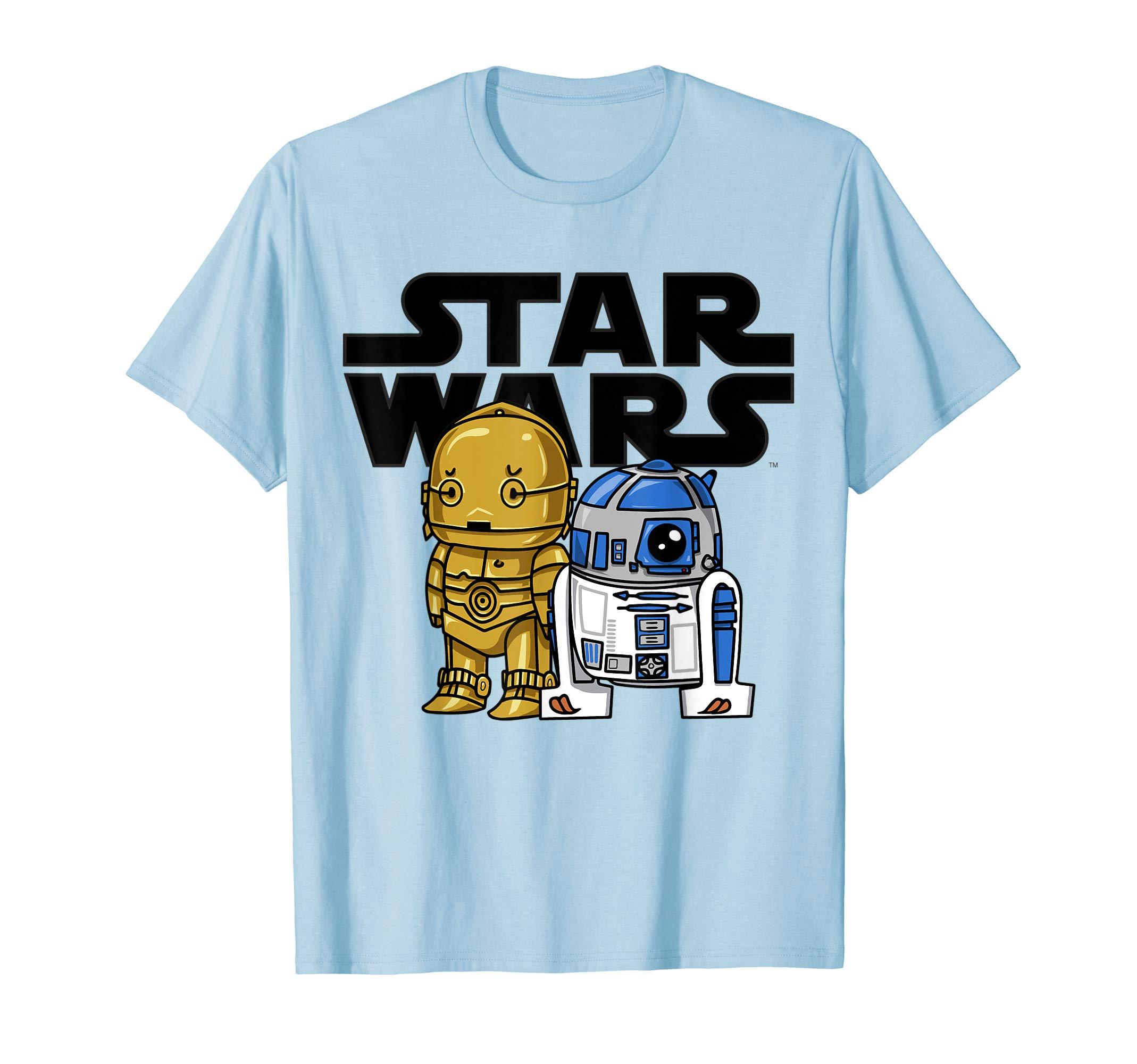 Star Wars Boba R2-D2 and C-3PO Cute Cartoon Graphic