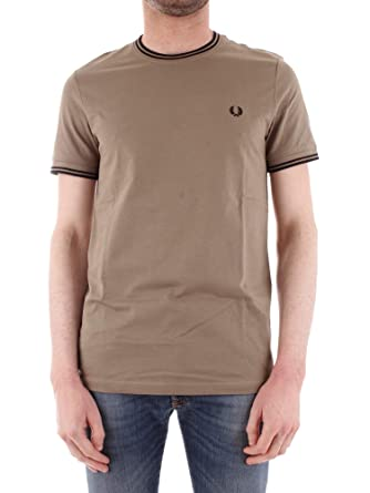 Fred Perry Hombres Camiseta con Doble Punta m1588 H04 XL Verde ...