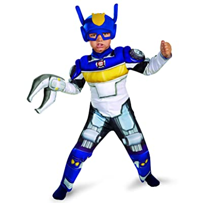 Boy's Transformers Chase Rescue Bots Toddler Muscle Costume, 3T-4T: Toys & Games