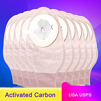 (Box of 20) Colostomy Bags,Disposable, Reusable,New Genuine  Hypoallergenic/Paste Ostomy Bags/Stool