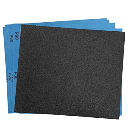 Sandpaper For Metal >> 80 Grit Dry Wet Sandpaper Sheets By Lotfancy 9 X 11 Silicon Carbide Sandpaper For Metal Sanding Automotive Polishing Wood Furniture Finishing
