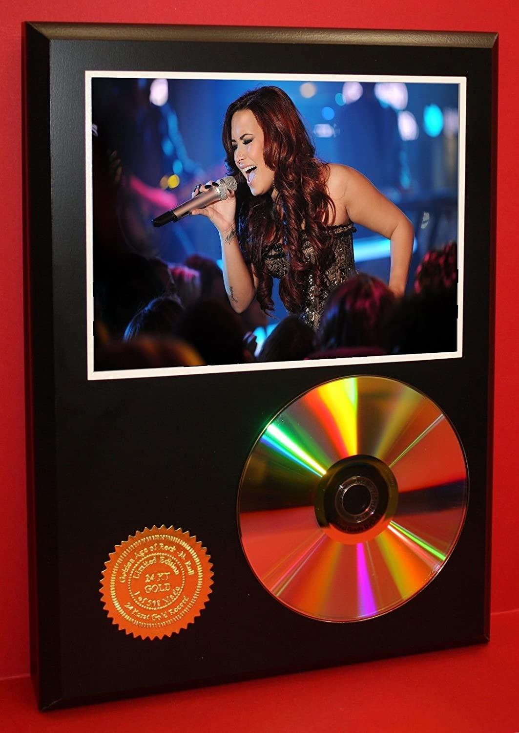 Demi Lovato Limited Edition 24KT Gold Cd Disc Collectible Award Quality Display