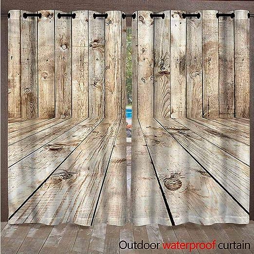 AndyTours - Cortinas para Exteriores – Cortina de Porche para decoración de jardín, Resistente al Agua, Cortinas para pergola/Patio/toldo, 2 Unidades: Amazon.es: Jardín