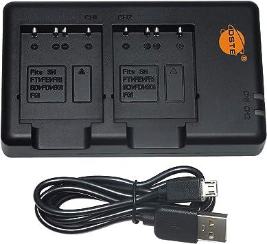 DSTE BCTRX BC-TRX Batería USB Dual Quick Cargador Compatible para NP-BG1,NP-FG1,NP-BD1,NP-FD1,NP-FT1,NP-FE1,NP-FR1,Cyber-Shot DSC-W50 DSC-W55 DSC-W70 ...