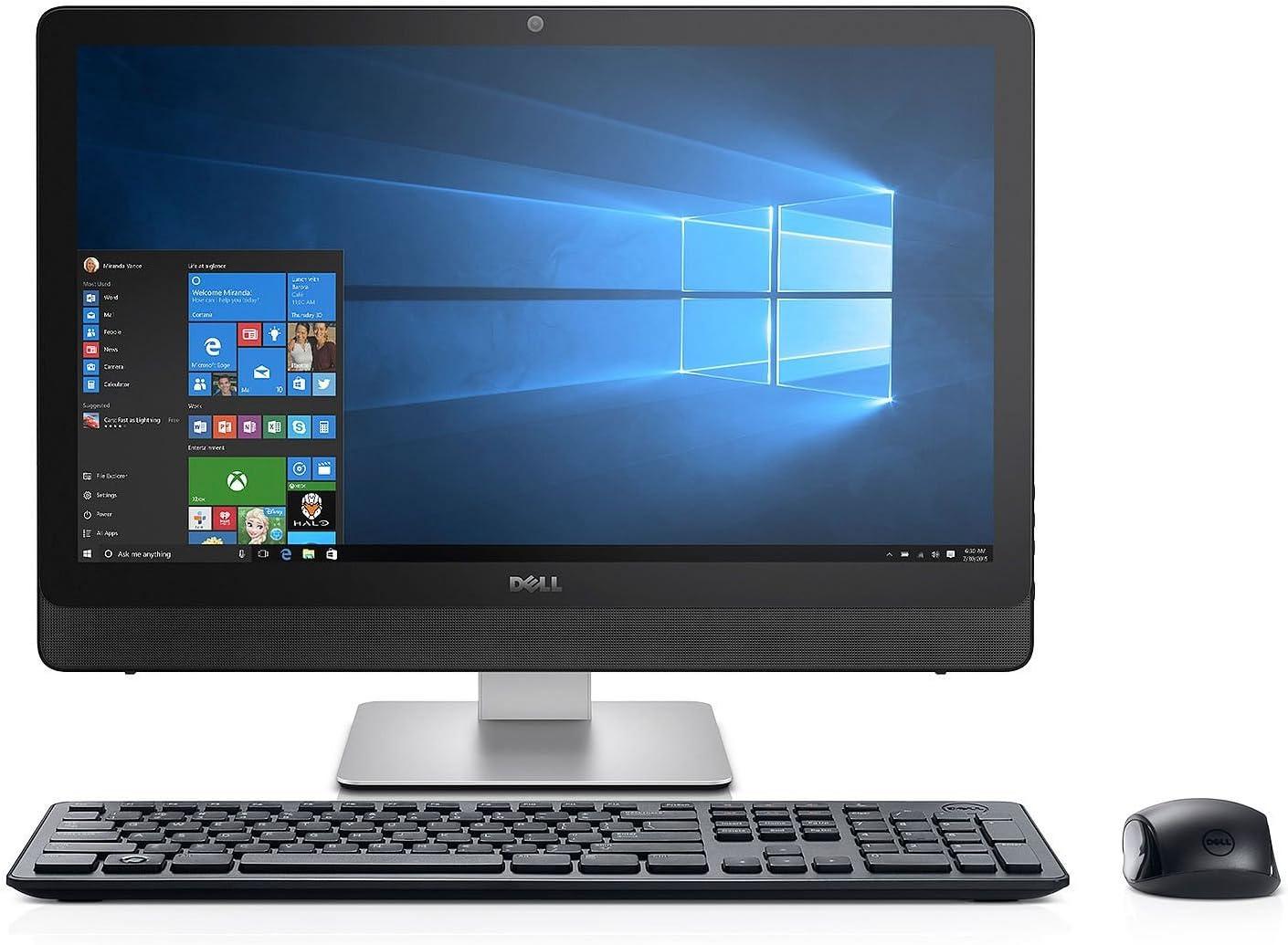"2018 Dell Inspiron 23.8"" Full HD Touchscreen 1920x1080 All-in-One Desktop -Intel Core i7-7500u, 12GB DDR4 RAM, 1TB HDD, Intel HD 620 Graphics, HDMI, Bluetooth, 802.11AC WiFi, Windows 10"