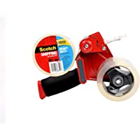 """Scotch Packaging Tape Dispenser with Heavy Duty Shipping Packaging Tape, 2 Rolls, Designed for Standard 3"""" Core Rolls…"""