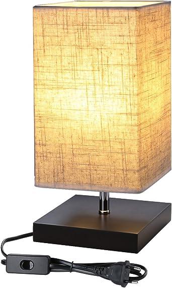 LE Lámpara de Mesa, LED Luz Mesita de Noche, E27, Pantalla de Tela, Lámpara Escritorio Diseño Clasico Vintage para Dormitorio, Estudio, Salon etc: Amazon.es: Iluminación