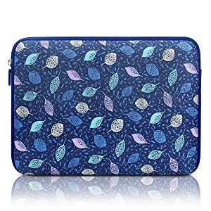 Arvok 15-15.6 Inch Laptop Sleeve Multi-Color & Size Choices Case/Water-Resistant Neoprene Notebook Computer Pocket Tablet Briefcase Carrying Bag/Pouch Skin Cover for Acer/Asus/Dell, Blue with Leaves