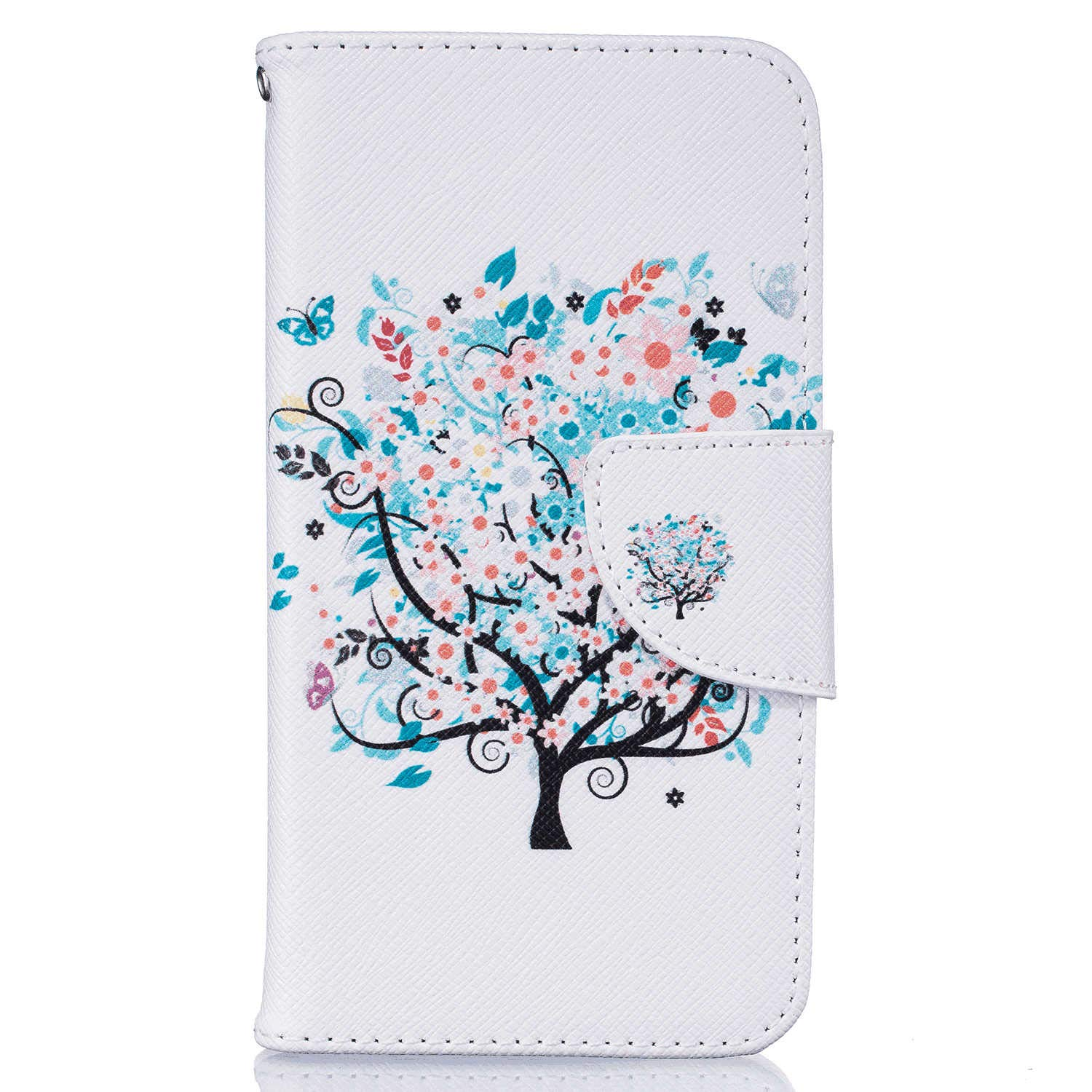iPhone 8 Plus Flip Case Cover for iPhone 8 Plus Leather Cell Phone Cover Extra-Durable Business Kickstand Card Holders with Free Waterproof-Bag Gripping