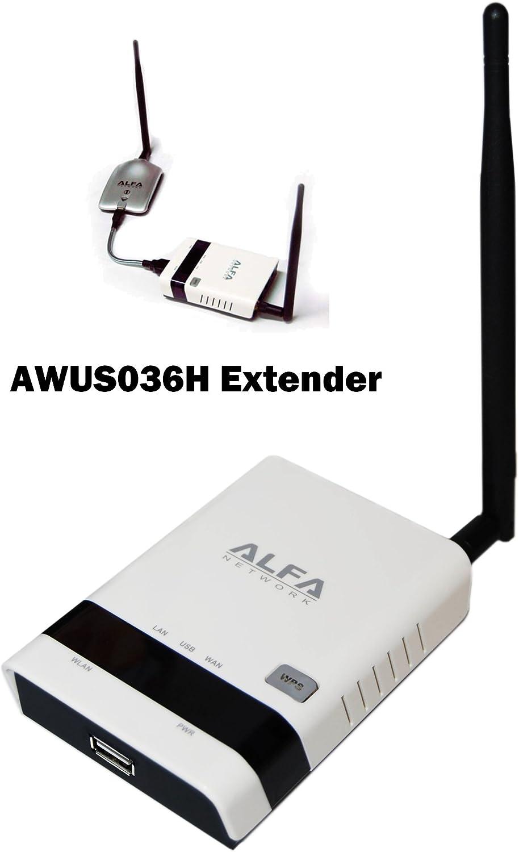Alfa R36 ampliador de red Network repeater Negro: Amazon.es ...