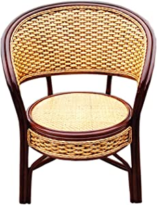 ZJDU Outdoor Club Chairs, Rattan Garden Chairs,Patio Balcony Furniture Dining Seats,All-Weather Wicker Chair,Outdoor Dining Chair for Outside Patio Tables,55×55×87cm