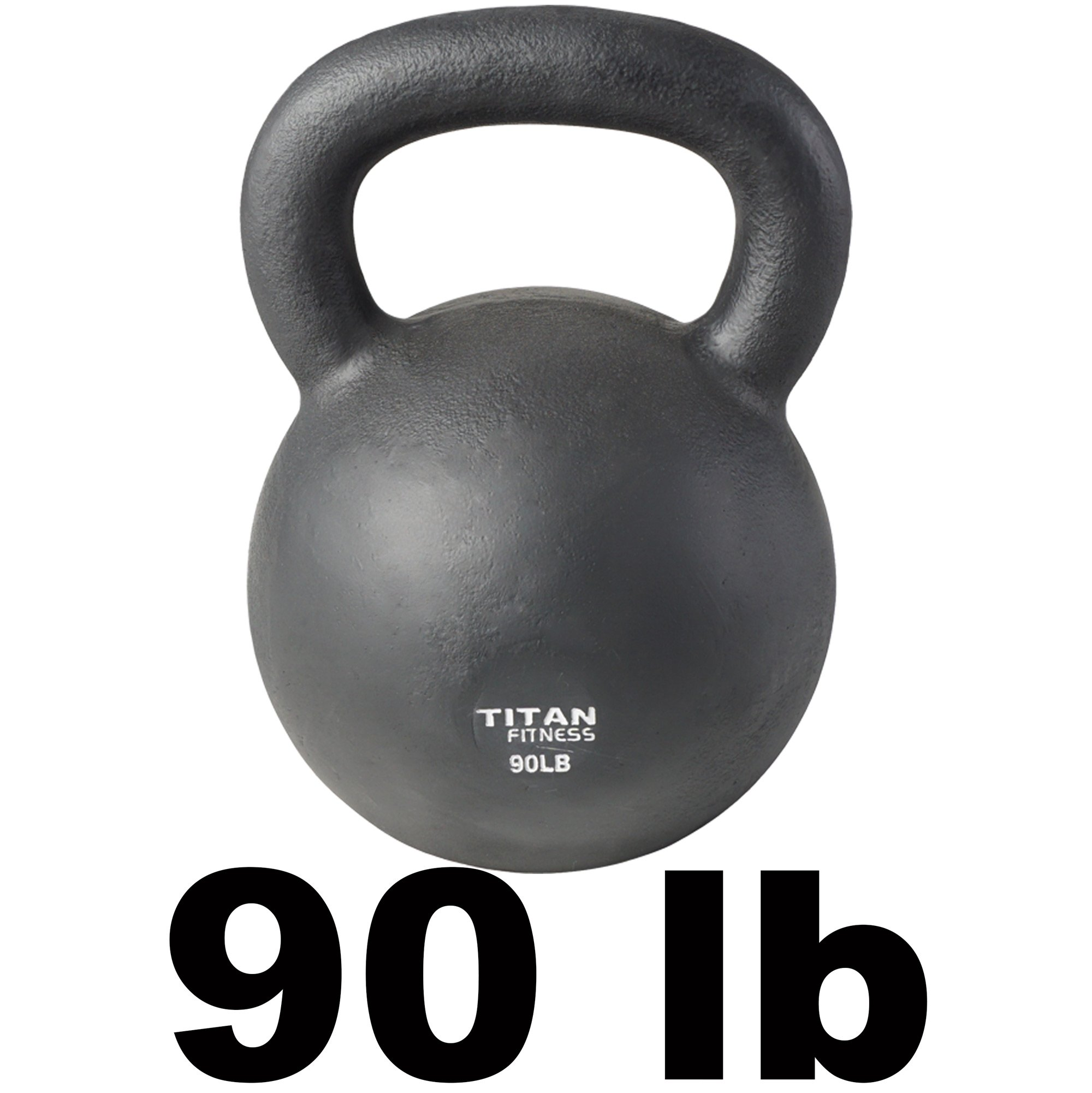 Cast Iron Kettlebell Weight 90 lb Natural Solid Titan Fitness Workout Swing by Titan Fitness (Image #2)