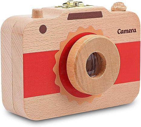 Caja organizadora de madera con forma de cámara para guardar los ...
