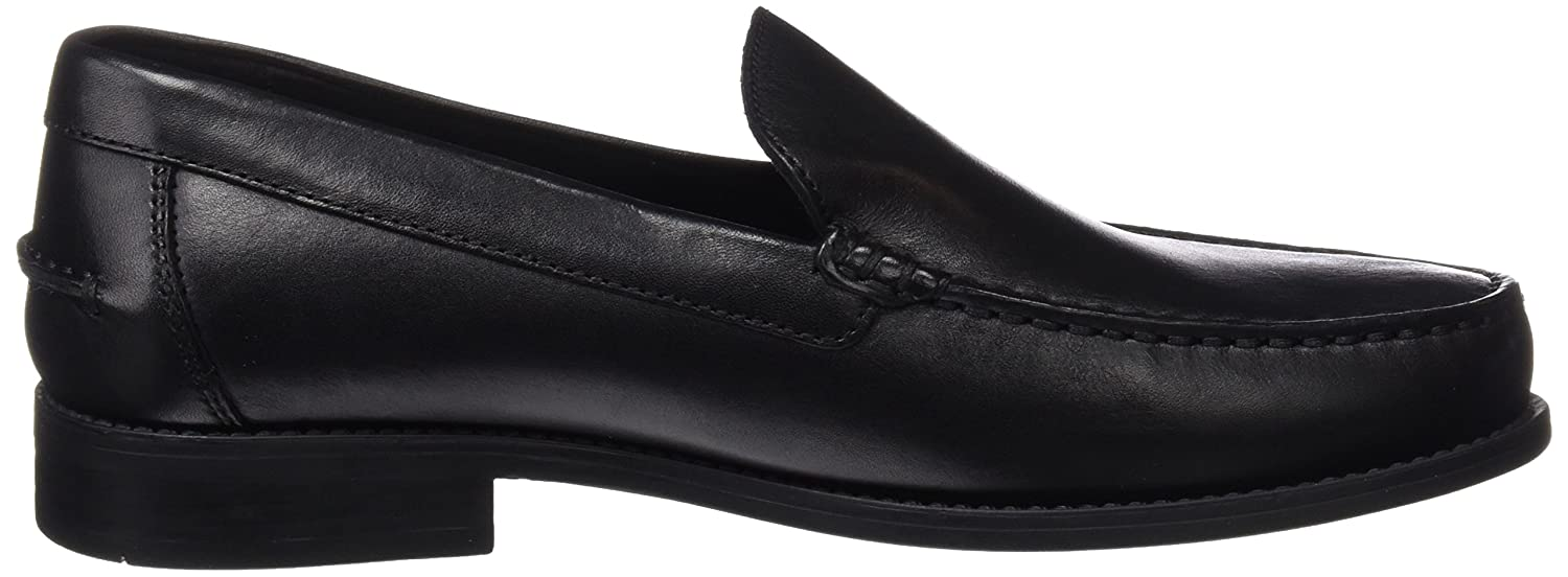 Amazon.com | Geox U Damon A Mens Smooth Leather Moccasins Shoes - Black | Loafers & Slip-Ons