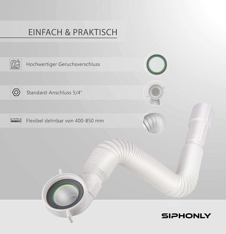 Siphonly® Tubo de desagüe flexible, 1 1/4