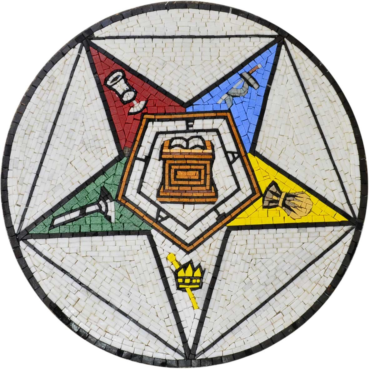 Custom Medallion Mosaic of The Masonic Eastern Star