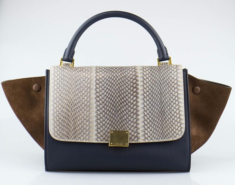 5c253cf911fa Amazon.com  CELINE Multi-Color Trapeze Leather   Suede Shoulder Handbag   Baby