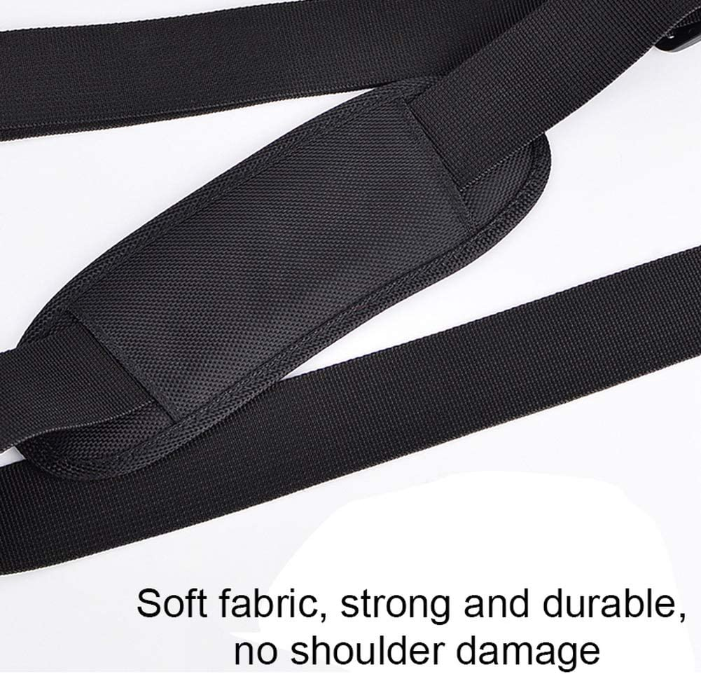 kuou Universal Shoulder Straps Laptop Bag,Backpack Sturdy Carrier Strap with Soft Padded Adjustable Belt Metal Swivel Hooks for Shoulder Bag