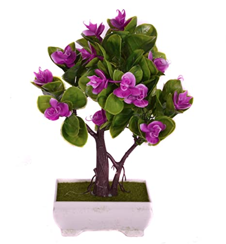 Pindia Decorative Artificial Purple Flower Plant with Pot for Home and Office Decor (14x9x22, cms) Artificial Plants at amazon