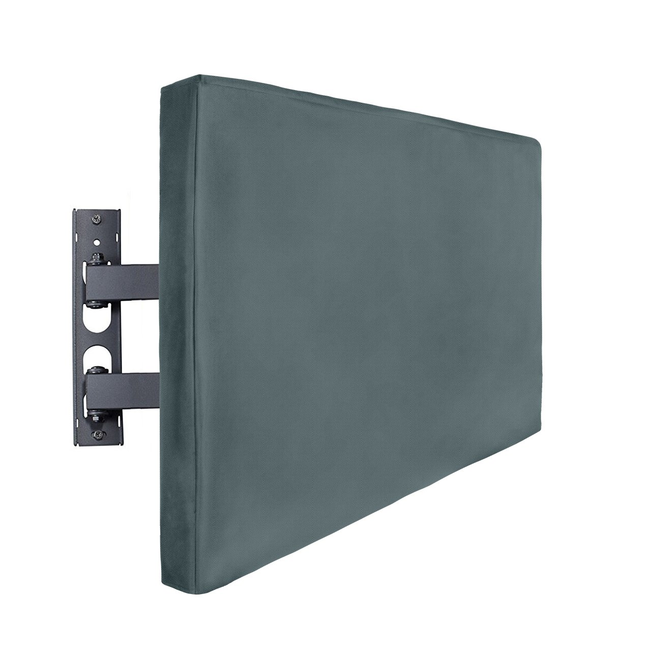 SortWise® Outdoor TV Cover - 40 1/2' x 24 3/8' x 4', Black Waterproof and Durable Universal Protector for Any Flat Screen LCD, LED, or Plasma TVs - Compatible with Standard Mounts and Stands, Includes W/ 2 Remote Controller Pocket on Back for Easy Use