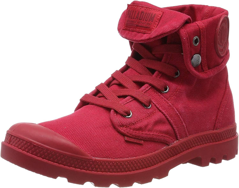 Palladium Us Baggy W H, Baskets Hautes Homme Rouge Red Salsa N52