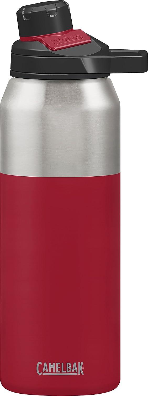 CamelBak Chute Mag Botella de agua de acero inoxidable aislada al vacío, 32 oz, color Rojo (Cardenal), tamaño 1 L, 11.8110236220472 x 3.1496062992126 x 3.54330708661417inches