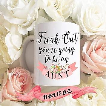 Pregnancy Announcement Coffee Mug Future Aunt Auntie Surprise Gift For Sister 11 Oz Ceramic Great