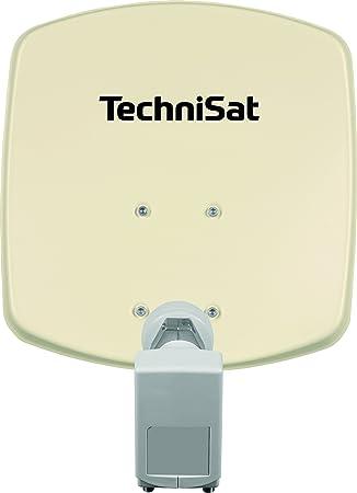 Technisat Digidish 33 Satelliten Schüssel Für 2 Teilnehmer 33 Cm Kleine Sat Anlage Komplettset Mit Wandhalterung Und Universal Twin Lnb Beige Heimkino Tv Video