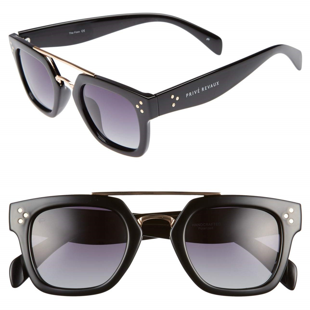 "cedd40749b57d Amazon.com  PRIVÉ REVAUX ICON Collection ""The Foxx"" Designer Polarized  Geometric Sunglasses  Clothing"