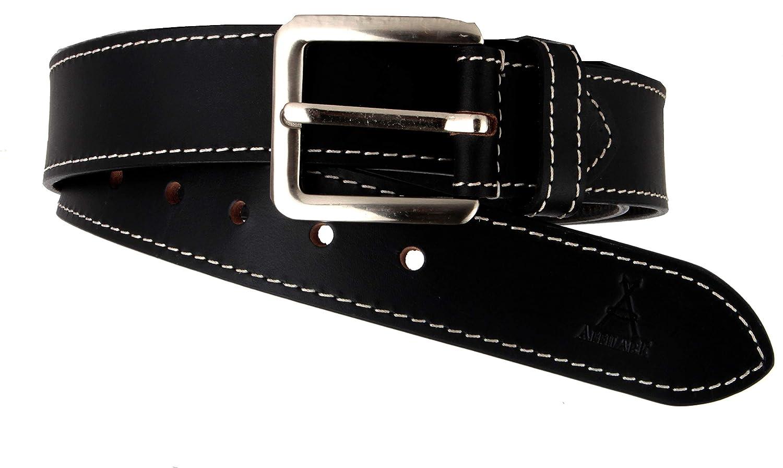 Affilare Genuine Leather Belt for Men Casual Jeans Leather Belt Black