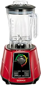 Germix Blender Mixer Professional Blenders 1800-Watt High Power 10 Speed Countertop Blenders Base Blenders for making smoothies and shakes