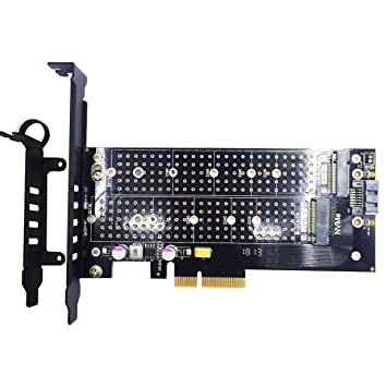 Heatsink for M.2 NVMe 2280 SM951 SM961 960PRO SSD M Key PCIe 3.0 Adapter Card