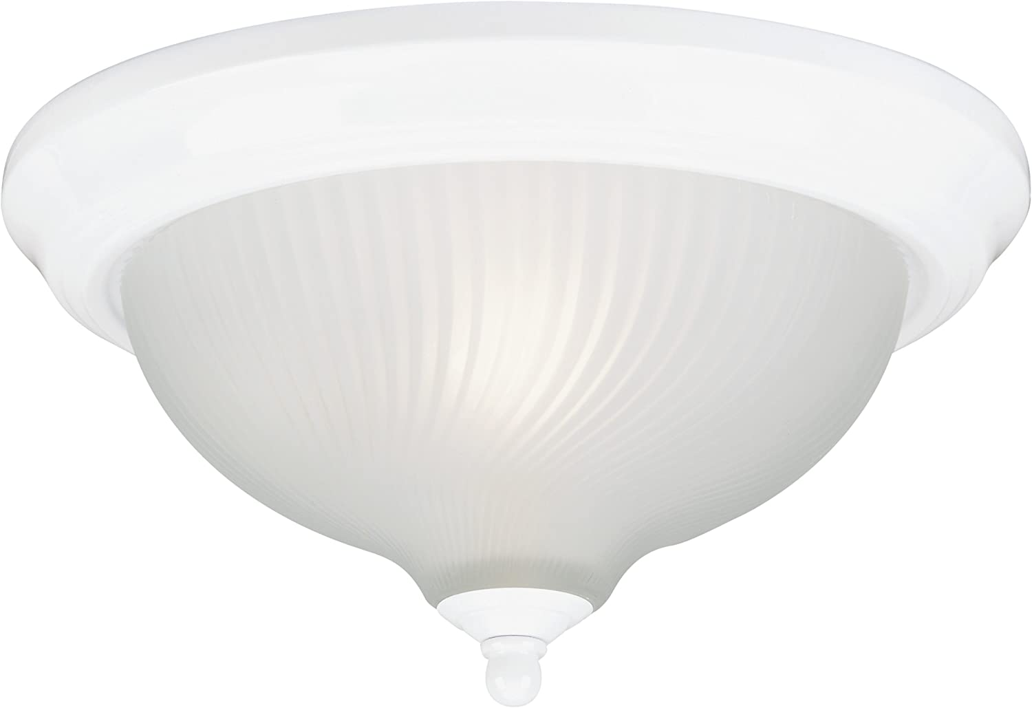 Westinghouse Lighting 6430100 Three-Light Flush-Mount Interior Ceiling Fixture, White Finish with Frosted Swirl Glass