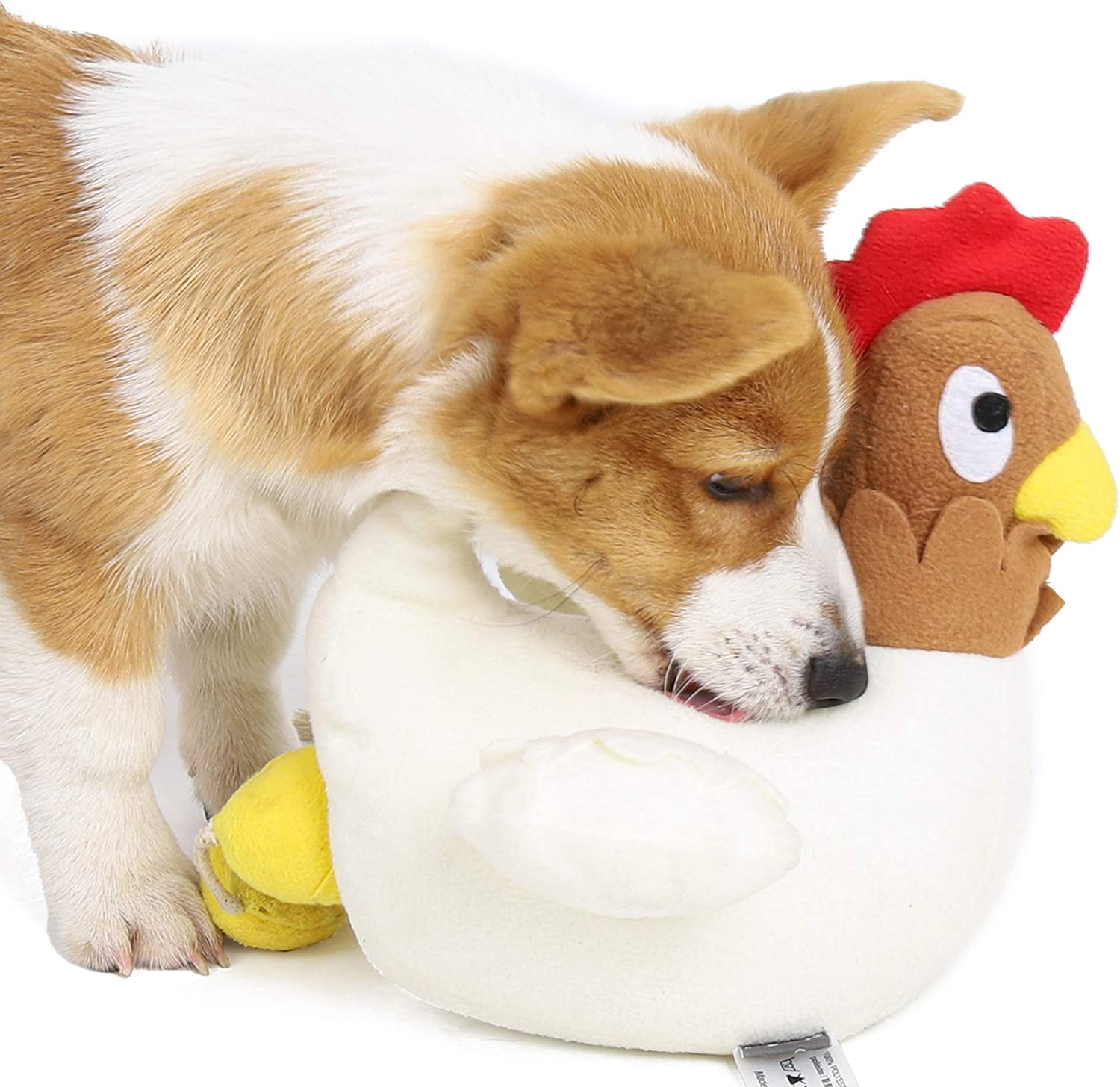 Dog Sniffing Training Toy, Chicken Laying Egg Puppy Snuffle Feeding Mat, Pet Interactive Puzzle IQ Squeaky Toy, Pet Activity Stuffed Toy for Play, Accompany, Stress Release, Increase Fun, Be Smarter