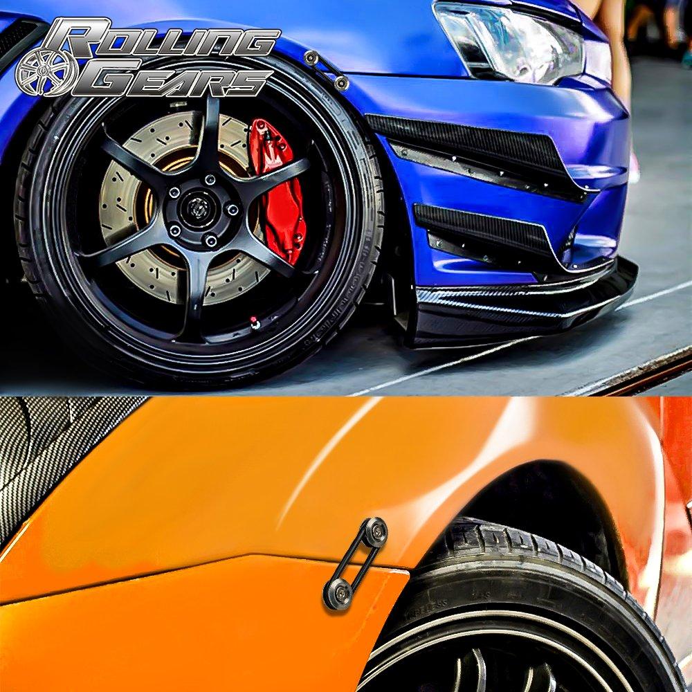 4 Piece Silver 4 x O-Ring Rolling Gears JDM Bumper Quick Release Front Rear Bumper Fasteners