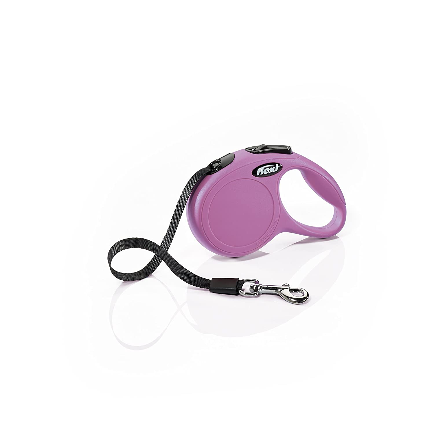 Flexi CL00T3.250.P New Classic Tape Retractable Leash, Pink, X-Small 10'